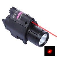 Nieuwe 9908 20 MM Tactische LED Zaklamp Red Dot Laser Sight voor Pistol Weaver Picatinny Rail Tactical Scope Extend Mount Adapter