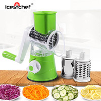 ICESTCHEF Manual Vegetable Cutter Slicer With Stainless Steel Blades Grater Shredder Multifunctional Kitchen Accessories Gadgets