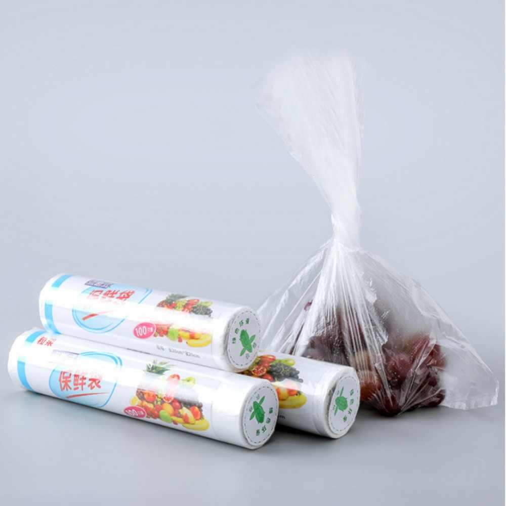 De almacenamiento de alimentos de sellador de vacío desechables de plástico bolsa de rollo de cocina bolsas de vacío sellador para mantener los alimentos frescos