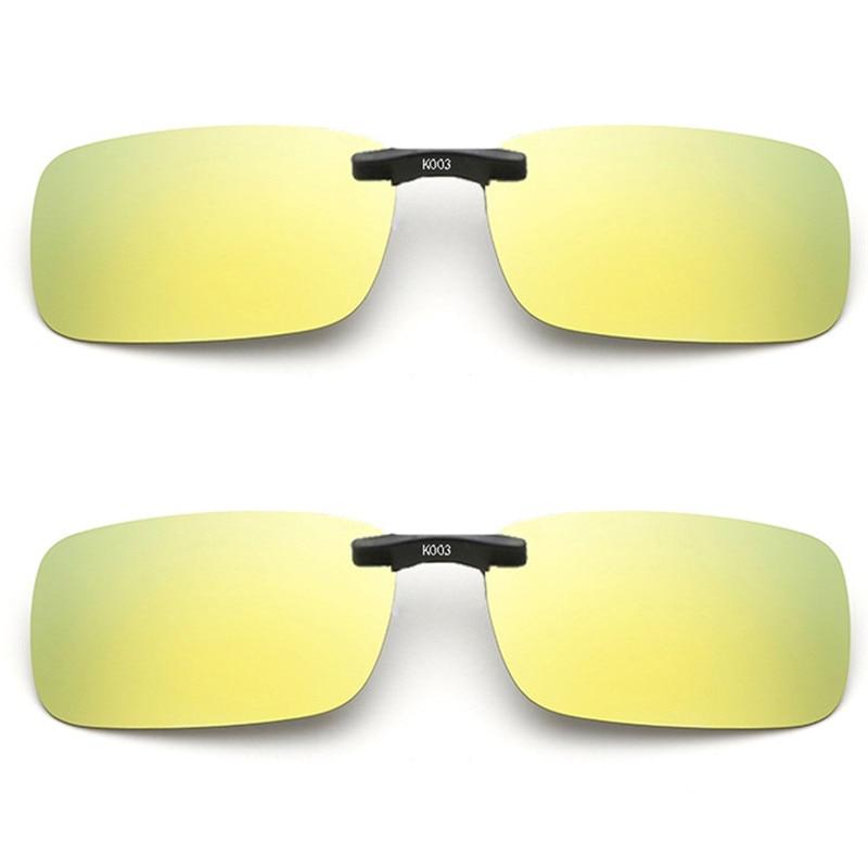 Imixlot Classic Unisex Polarized Clip On Sunglasses Driving Night Vision Lens Anti-UVA Sunglasses Clip
