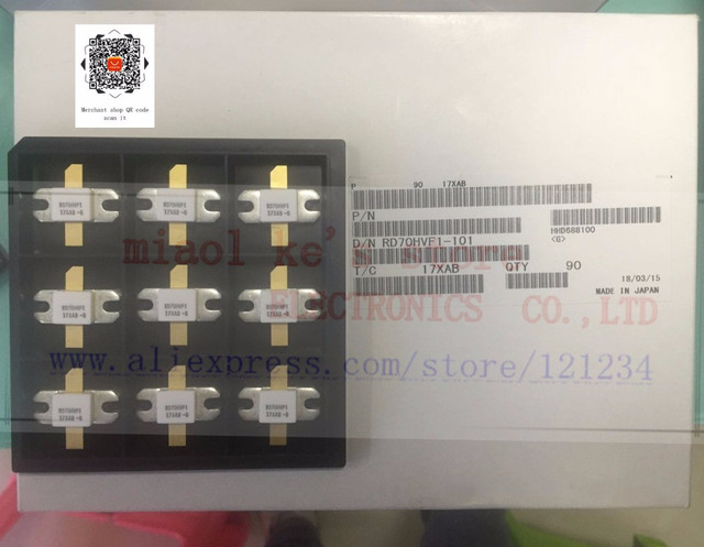 [1pcs/1lot]100%New original; RD70HVF1 RD70HVF1C RD70HVF1 101 RD70HVF1C 501 [12.5V 175MHz 70W 520MHz 50W]MOSFET Power Transistor