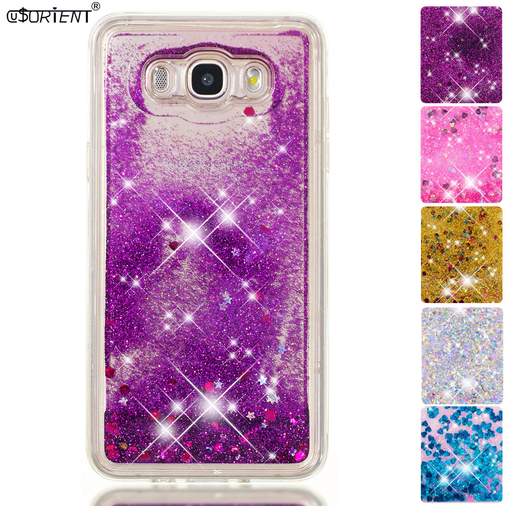 Half-wrapped Case Forceful For Samsung Galaxy J7 2016 J76 Bling Glitter Liquid Quicksand Phone Case Sm-j710f Sm-j710f/ds Sm-j710fn/ds Soft Back Cover Funda In Pain Phone Bags & Cases