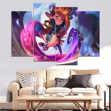 Zoe The Aspect Of Twilight Painting 4 Piece Modular Style Picture Canvas Print Type Modern Home Decorative Wall Artwork Poster
