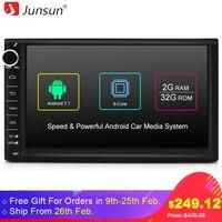 Junsun 7 R177 Car DVD 2 Din Android Car Radio Multimedia Player 1024 600 Universal GPS