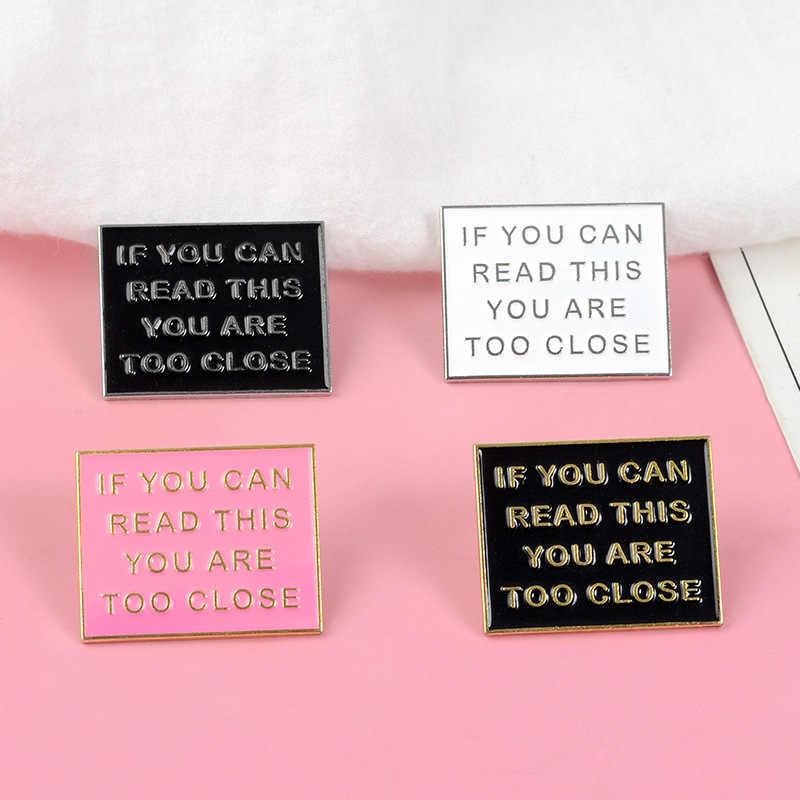 Jika Anda Dapat Membaca Ini Frase Logam Enamel Bros Menyenangkan Warna Teks Pin Lencana Kepribadian Pesona Perhiasan Aksesoris Hadiah