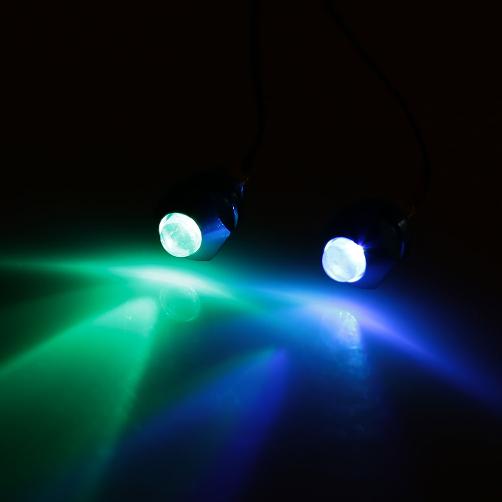 Vehemo 2 шт. индикатор номерные знаки Предупреждение мотоциклов штифт светильника свет прочный сигнальные лампы супер яркие мотоциклы