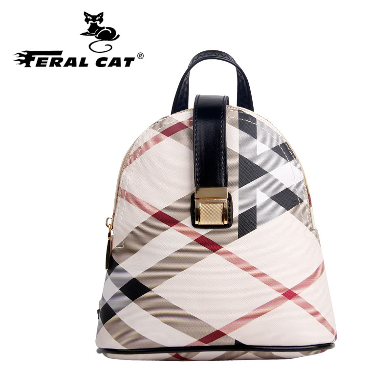Ladies backpack women famous brands bags Fashion classic striped backpack Large capacity backpack women mini backpack