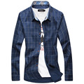 New Autumn Fashion Brand Men Clothes Slim Fit Men Long Sleeve Shirt Men Plaid Cotton Casual Men Shirt Social Plus Size M-6XL