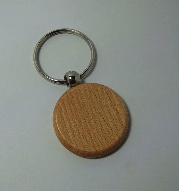 Haut Pflege Werkzeuge kostenloser Versand 50 Stücke Gravieren Diy Ronde Holz Schlüsselanhänger Kreis Carving Schlüsselanhänger 1,6 Schönheit & Gesundheit