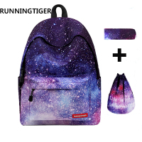 Backpacks Brand 3pcs Sets Women Backpack Star Printing Backpack Canvas School Bags For Teenager Girls