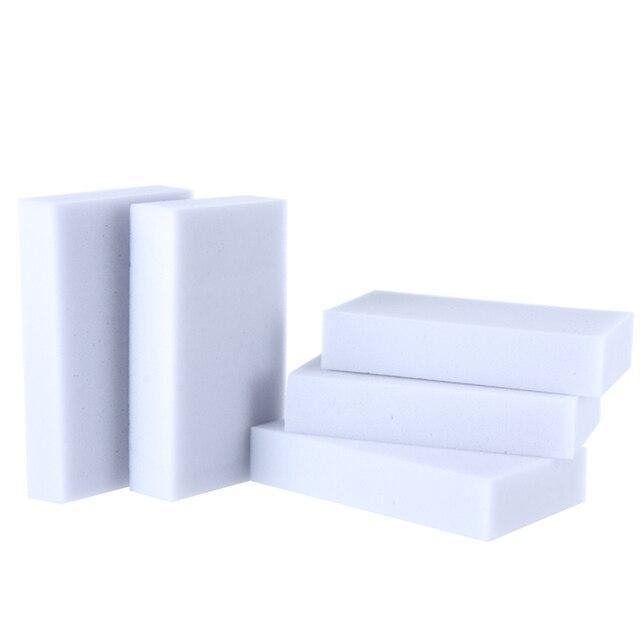 100 sztuk/partia wysokiej jakości szary magia Sponge gąbka z melaminy 10*6*2 cm czyszczenia gumki do kuchnia biuro łazienka czyste Nano gąbki