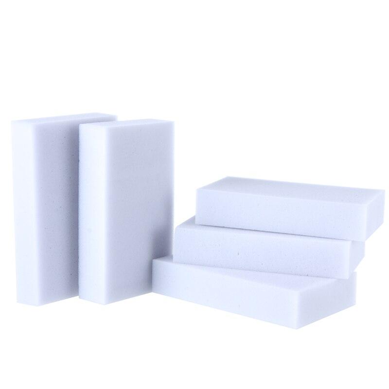 100 unids/lote, esponja mágica gris de alta calidad, esponja de melamina, borrador de limpieza de 10*6*2cm para cocina, oficina, baño, esponja limpia Nano