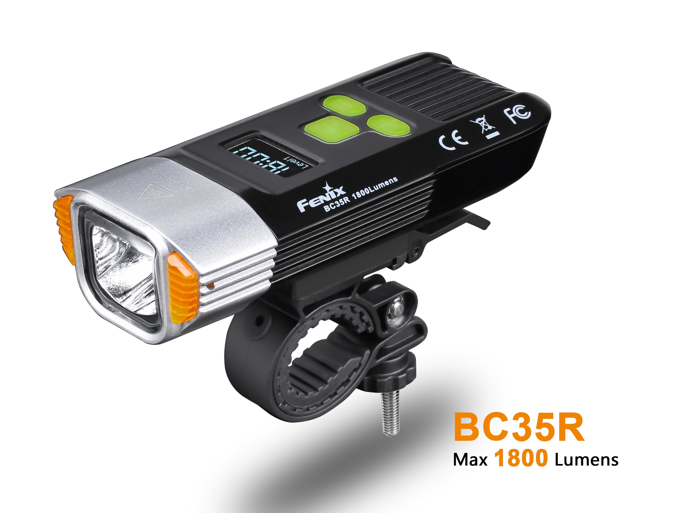 New Arrival Fenix BC35R 2018 High performance Digital OLED Display Micro USB Rechargeable Bicycle Front Light