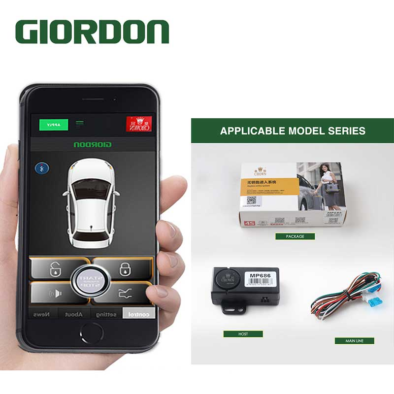 For Android /IOS Smartphone Keyless Entry Car Alarm Anti The