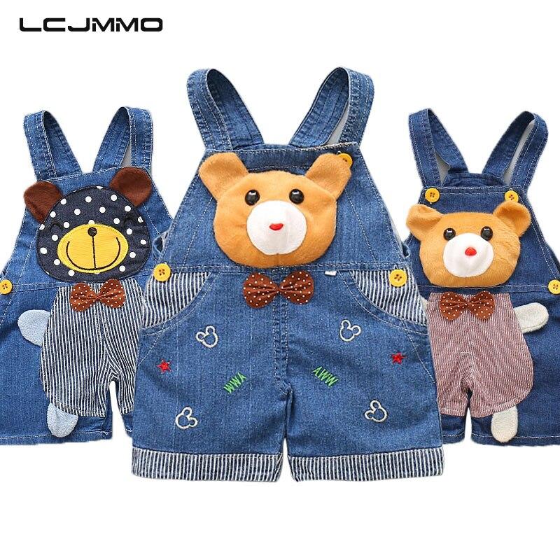 Lcjmmo модные джинсовые Детские Комбинезоны для маленьких Обувь для девочек Обувь для мальчиков лето дети мультфильм шаблон Шорты для женщин ... ...