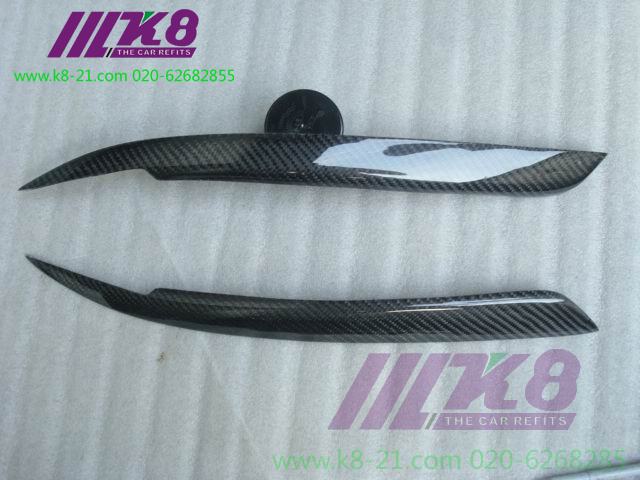 Carbon Fiber Headlight Covers Eyelids eyebrows Fit for BMW E39