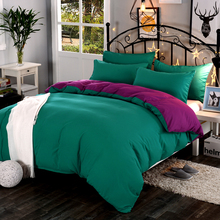LAGMTA 1pc high quality solid color thickening encryption active dyed Double sided duvet cover custom size