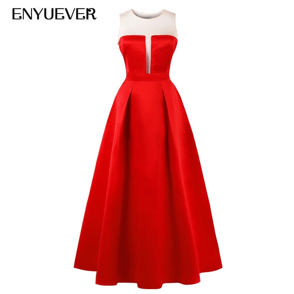 Enyuever grande taille robe de soirée femmes vêtements 2019 automne noir rouge violet mode piste élégante formelle robes longue Maxi robe