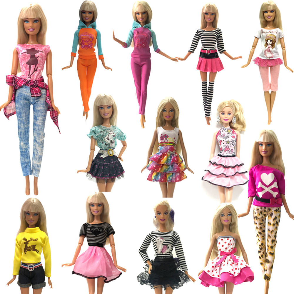 NK Newest Doll Dress Beautiful Outfit  Handmade Party Clothes Top Fashion Skirt For Barbie Noble Doll Best Child Girls