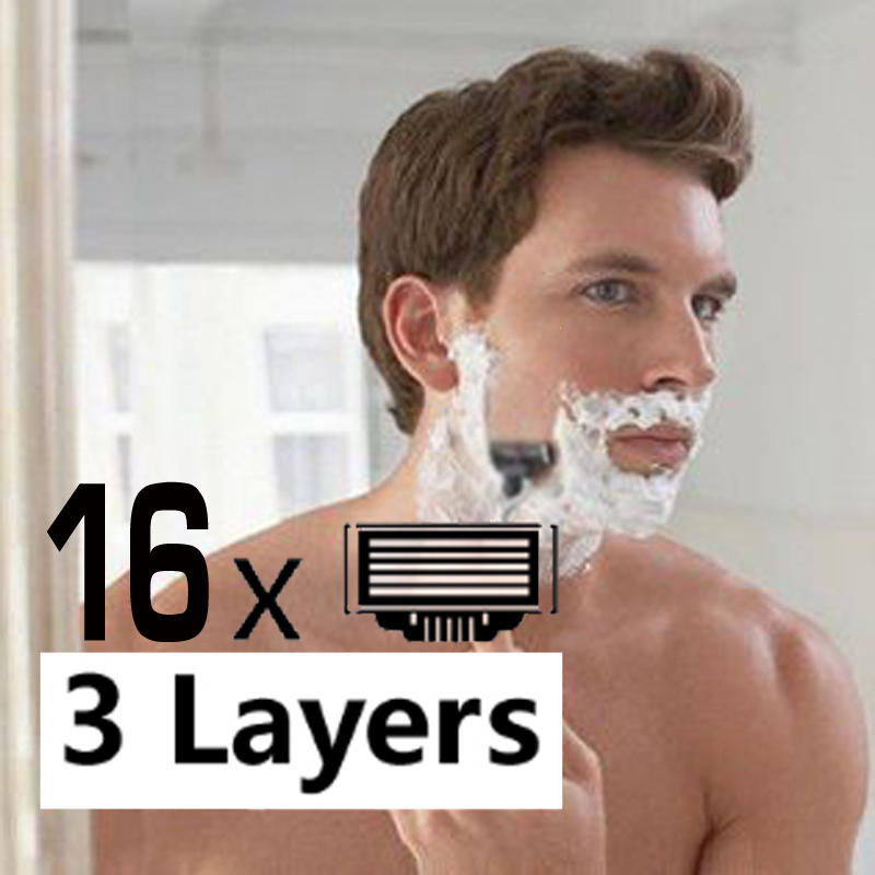 16pcs Razor Blades For Men+1pcs Razor Holder Face Care s