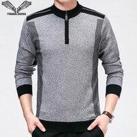 VISADA JAUNA 2017 Nowa Jesień Zima Mężczyźni Swetry Dorywczo Mody męska Slim Fit Swetry Dziewiarskich 6XL Big Size Mężczyźni Swetry N6676