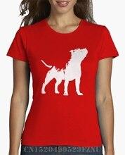 T-shirt Short O neck L For Women's Staffordshire Bull terrier