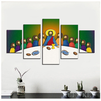 full square round drill cross stitch diamond embroidery 5 Pieces Jesus Last Supper Pictures,crystal diamond mosaic Diamond Paint
