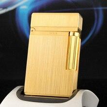 100% novo vintage dupont brilhante som gás mais leve à prova de vento corpo cobre para cigarro