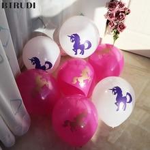 BTRUDI 40pcs/lot Unicorn Balloons Party Supplies Latex Kids Cartoon Animal Horse Float Globe Birthday Decoration
