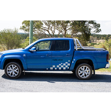 free shipping 2 PC side door graphic Vinyl racing car sticker for AMAROK 2010-2017