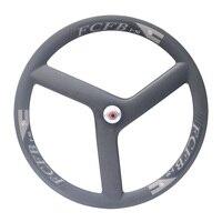 2017 FCFB new road carbon wheels F50 700C Full Carbon Fiber Tri spoke WheelClincher 3 Spoke Wheels | 3 spoke rims