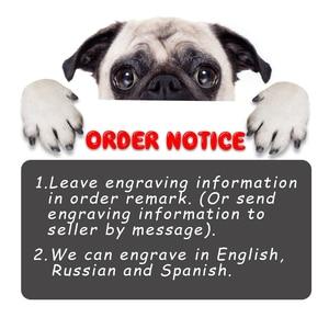 Image 2 - Coleira de cachorro personalizada de náilon, tag de cachorro personalizada de nylon, ajustável, gravada, placa com nome para cão e gato, para cães pequenos e grandes