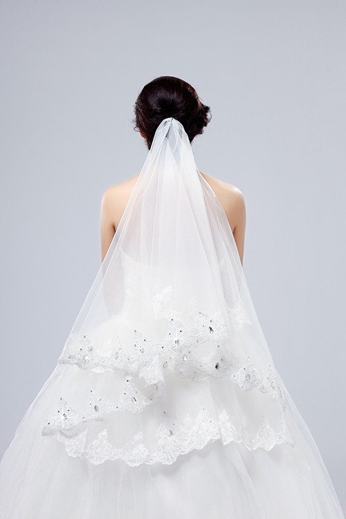 Beauty One-layer Lace Veil 2