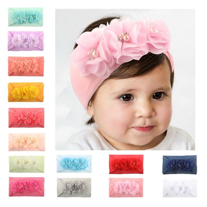 Ribbon New Baby Flower Headband Hair Bands Handmade DIY Headwear Hair Accessories For Children Newborn Toddler