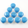 10x New OEM 30mm Push Buttons Replace For Arcade Sanwa OBSF-30 Button Blue of 7 Colors Available