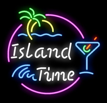 Custom Island Time Lake Glass Neon Light Sign Beer Bar