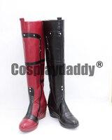 Batman Arkham City Harley Quinn Cosplay Boots Shoes X002