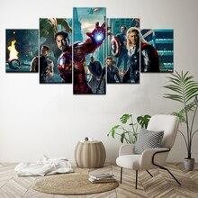 Movie Avengers Civil War Infinity War Superheroes 5 Panel Wall Art Picture Home Decoration Living Room Canvas Paintings HD Print свитшот print bar civil war shield