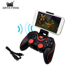2019 New Data Frog Wireless Bluetooth Gamepad Game Controller For Android Smart Phone For PS3 PC Laptop Gaming Control for Boys