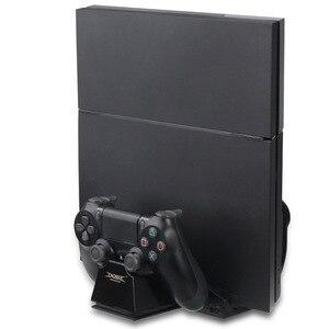 Image 4 - Controller Kühlung Ladestation Ladegerät stand mit USB HUB für und Spiel Discs Lagerung Rack für PS4/PlayStation 4 konsole