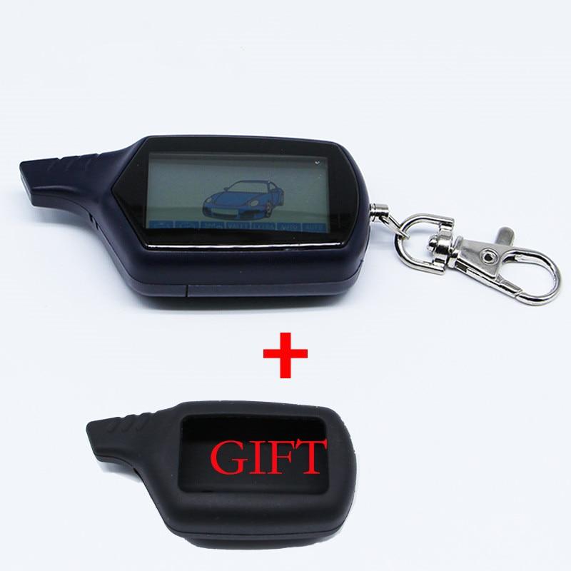 B9 Starline B9 LCD Remote Controller For Two Way Car Alarm Starline B9 Twage Keychain Russian Version b9 russian two way car alarm system with 2 0 lcd remote controller black