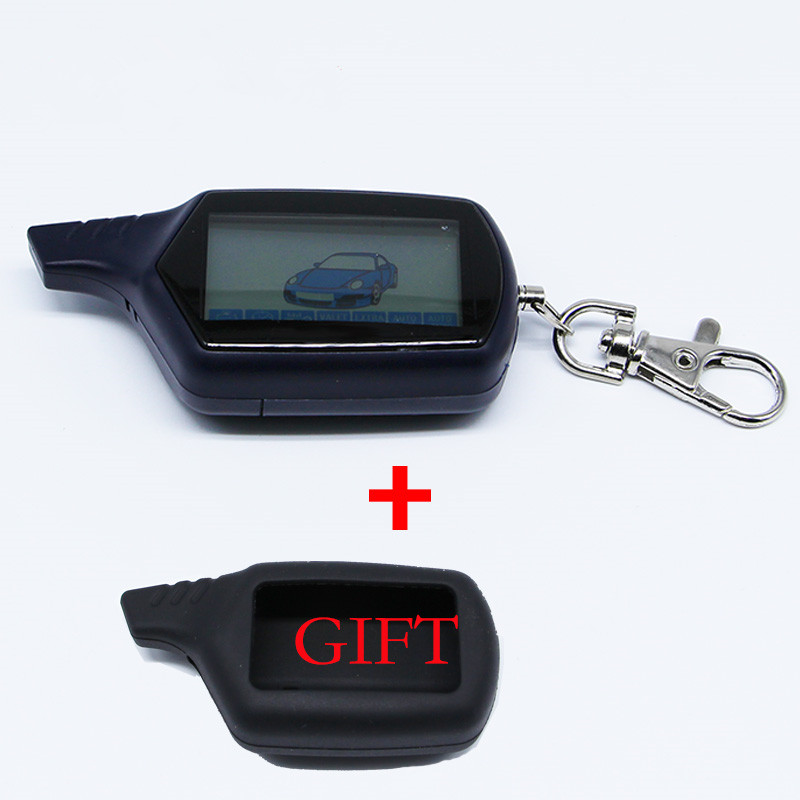 KGB FX-7 Keychain For KGB Fx 7 Starline B9 LCD Remote For Two Way Car Alarm Starline B9 Twage Keychain Russian Version