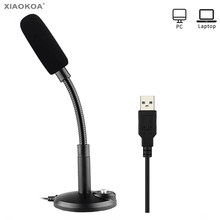 USB Microphone for Computer PC Desktop Laptop Notebook Cable for Recording Gaming Podcasting usb Condenser microphones XIAOKOA(China)