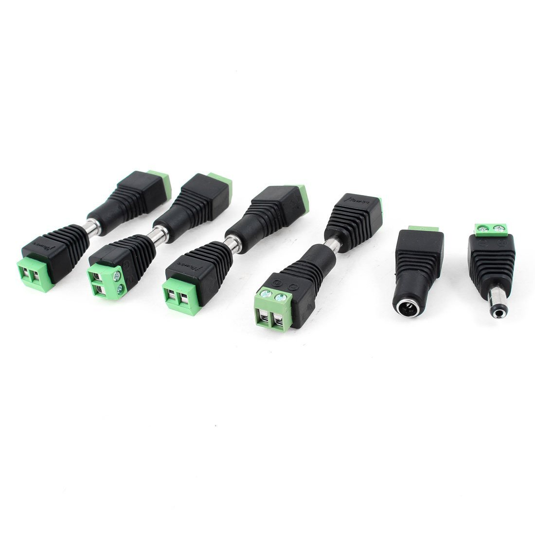 5Pair 5pcs female 5pcs male Male Female 5 5 x 2 1mm DC Power 12V 24V