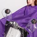 High Quality Raincoat Men Women Electrombile Rainwear Scooter Rain Coat Hooded Cyan/Yellow/Purple