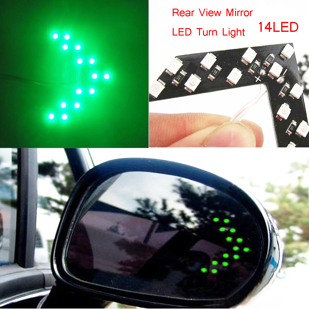 2017 new free shipping car styling 14 patch LED arrow panel car rearview mirror lights turn signal car led parking lights