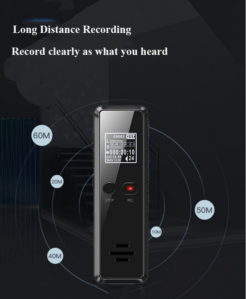 Volemer V90 Digital Voice Activated Recorder Dictaphone Long Distance Audio Recording Mp3 Player Noise Reduction Wav Recording (6)