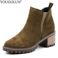 Square Heel Ankle Boots Women Autumn Winter Elegant Ladies High Heels A255 Fashion Woman Black Apricot Army Green Riding Boots vankaring punk rivets fashion ankle boots square heel autumn winter boots women genuine leather fretwork ladies red riding boots