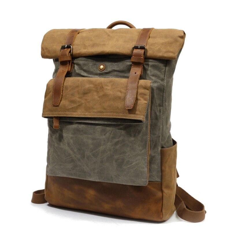 Bagaj ve Çantalar'ten Sırt Çantaları'de M206 Erkekler Rahat Daypacks Vintage keten sırt çantası Okul Çocukları Tasarım Rahat Moda Su Geçirmez Seyahat Çantası Erkek Sırt çantası Sırt Çantası'da  Grup 3