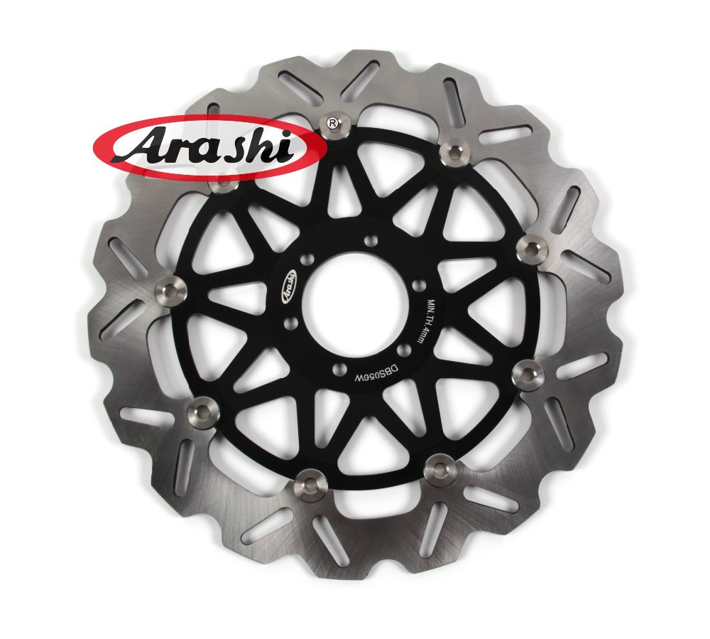 Arashi 1PCS CNC Front Brake Disc Brake Rotors For CAGIVA PLANET 125 1997 1998 1999 2000 2001 2002 2003 2004 2005 2006 2007 2x front brake rotors disc braking disk for moto guzzi breva griso 850 2006 california 1100 ev 1996 2000 griso 1200 8v 2007 2011